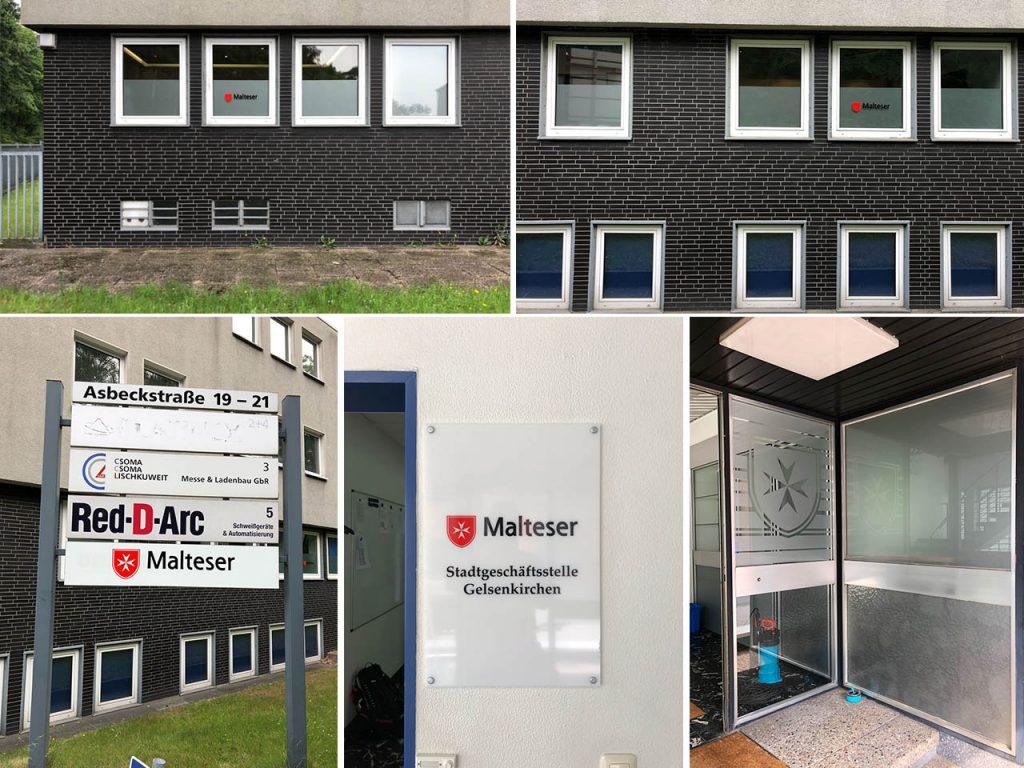 Werbeagentur Hendrich - Design & Fotografie - Malteser e.V. Gelsenkirchen - Außenwerbung