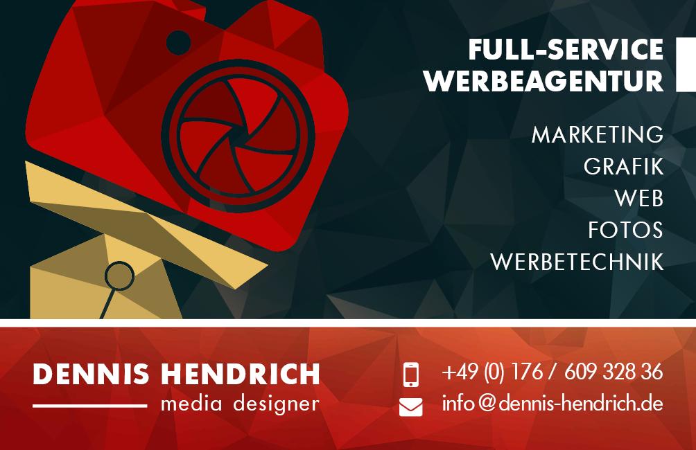 Werbeagentur Hendrich - Design & Fotografie - Visitenkarten