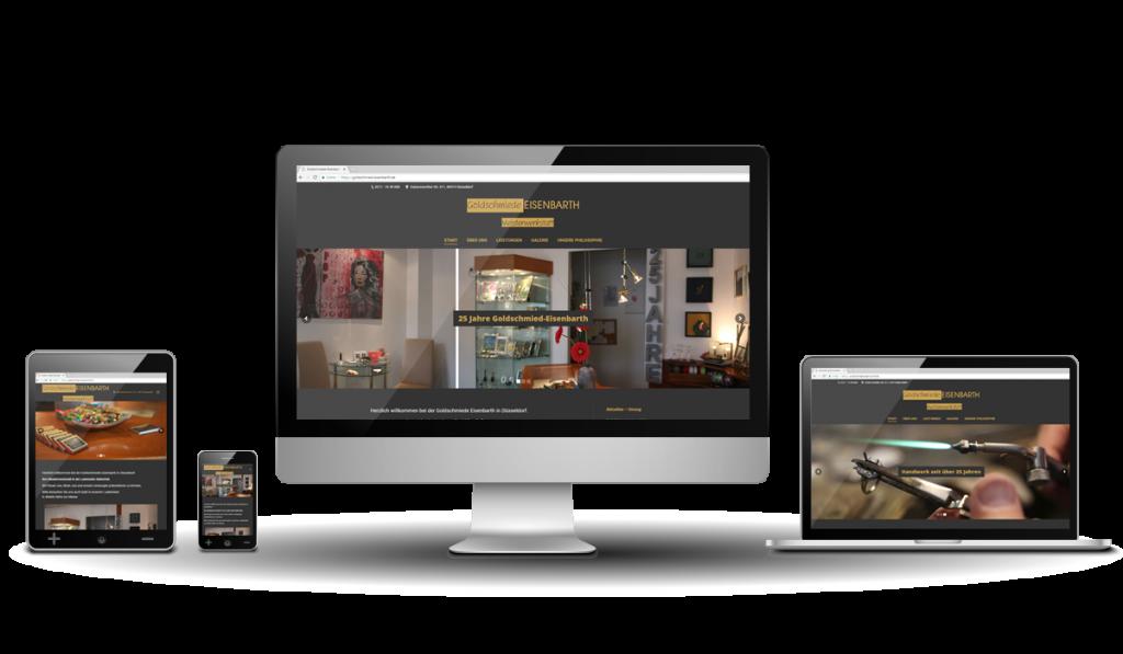 Werbeagentur Hendrich - Design & Fotografie - Goldschmiede Eisenbarth Webseite